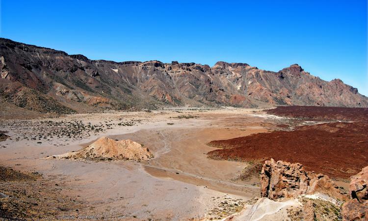 Vulkaan tenerife el teide landschap