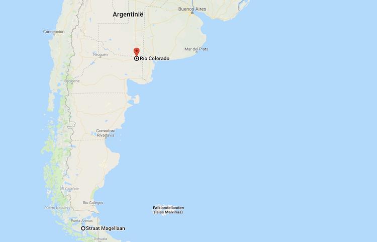 Waar ligt Patagonie