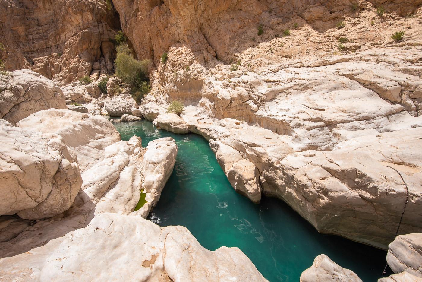 Wadi Shab Oman vallei