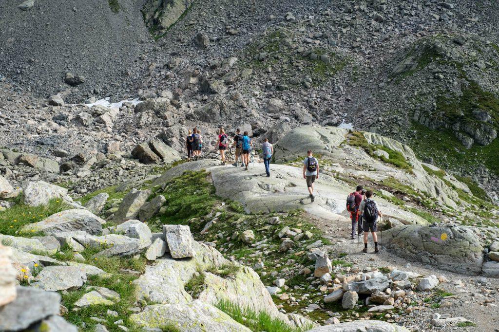 Wandelen in Frankrijk mont blanc