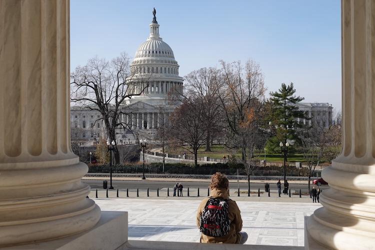 Washington DC vanaf supreme court