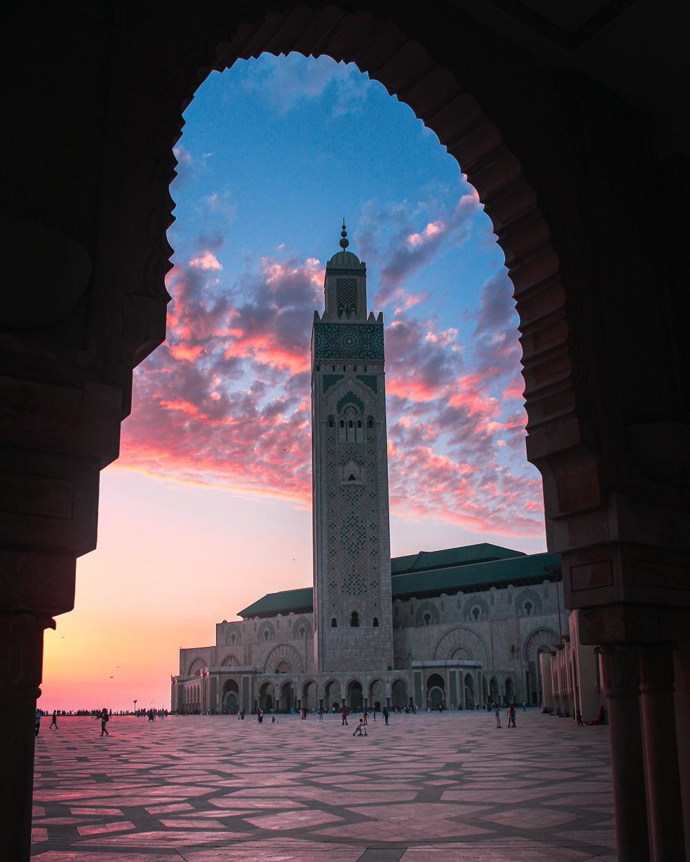Wat te doen in Casablanca, Hassan II Moskee zonsondergang