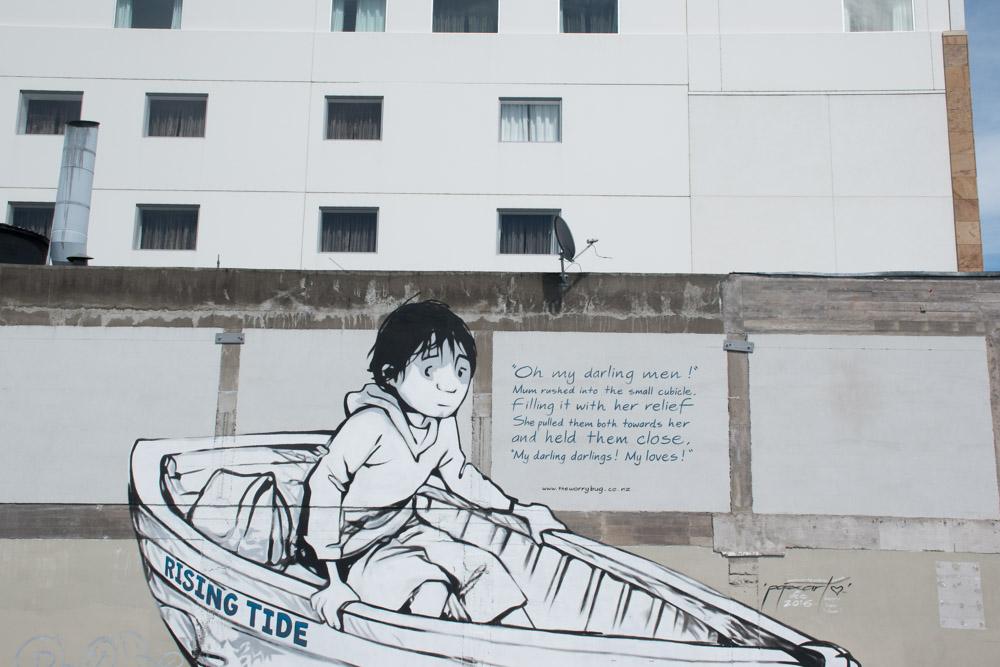 Wat te doen in Christchurch Nieuw Zeeland streetart