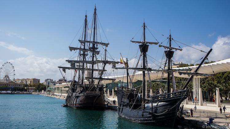 Wat te doen in Malaga boottocht oud schip