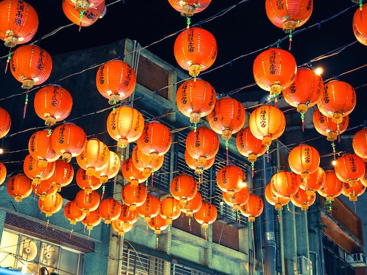 wat te doen in taipei lampionen raohe street market