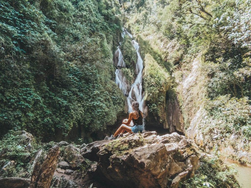 Waterval in Cuba dichtbij Trinidad