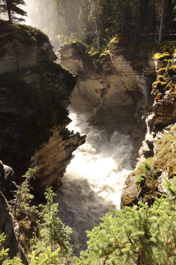 Watervallen canadian rockies fotos