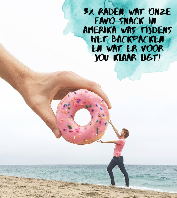 WeAreTravellers Event 6 oktober amerika snack backpacken dunkin donuts