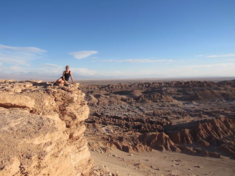 Wereldreis anna in atacama woestijn landen