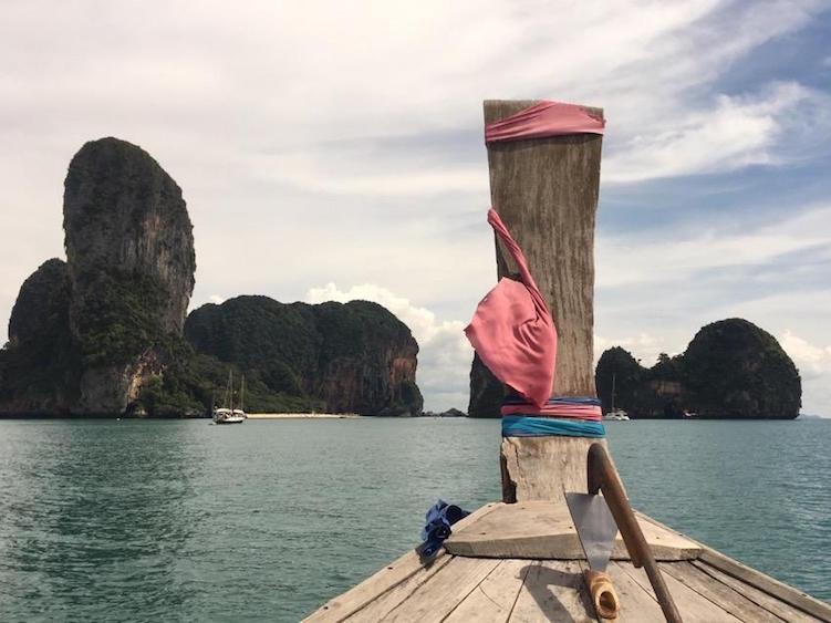 Wereldreis route azie boot tocht