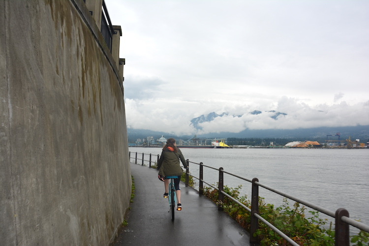 West Canada rondreis Vancouver fietsen Sea Wall