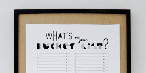 What's on your bucketlist