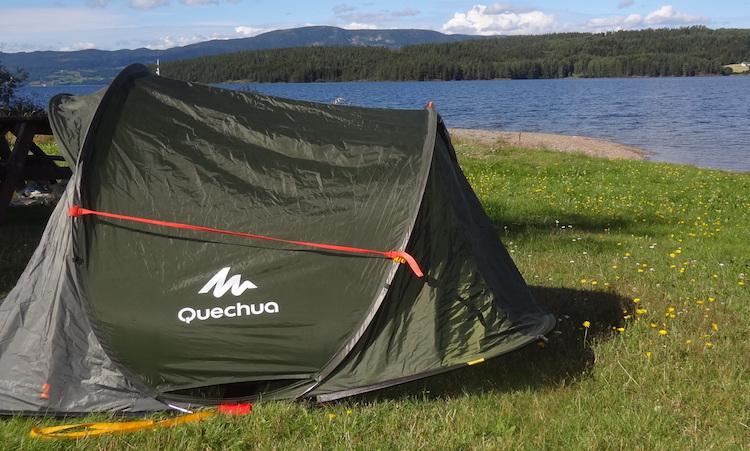 Wild kamperen tent