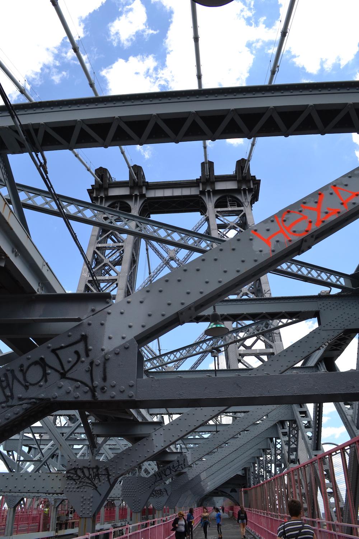 Williamsburg Bridge vanuit Brooklyn new York