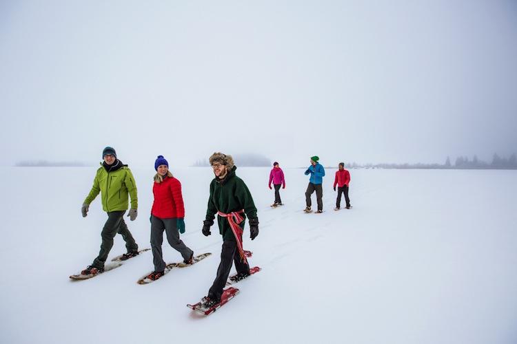 Winterreis canada in de winter vakantie snowshoeing