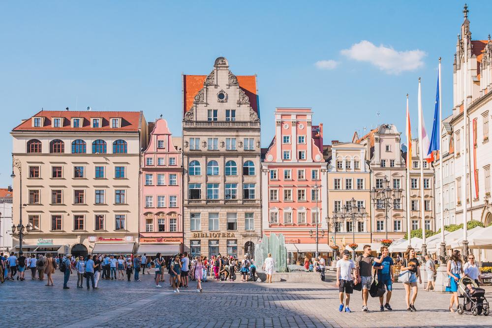 Wroclaw in polen plein