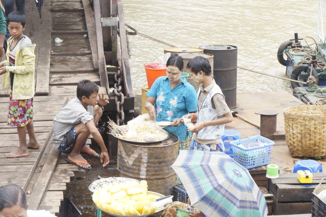 Yangon markt