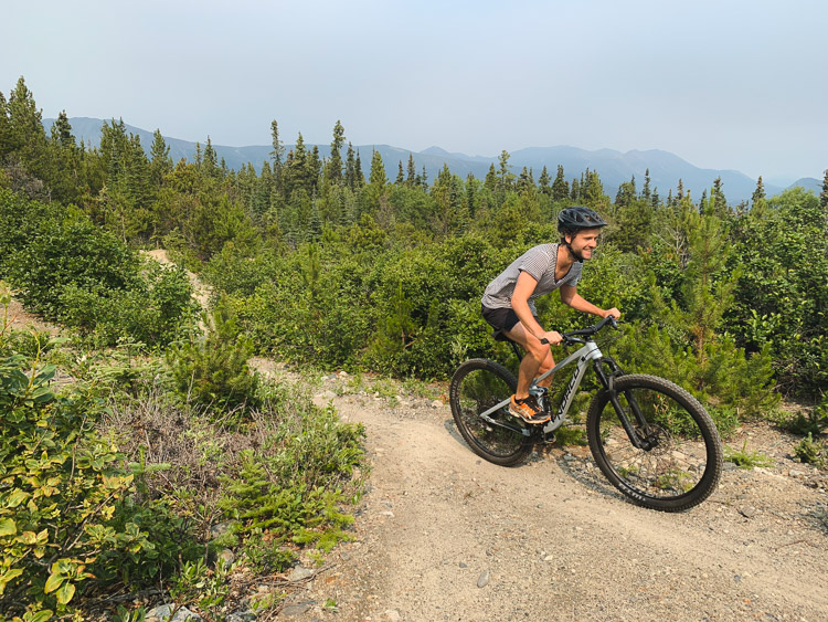 Yukon Canada mountainbiken Carcross