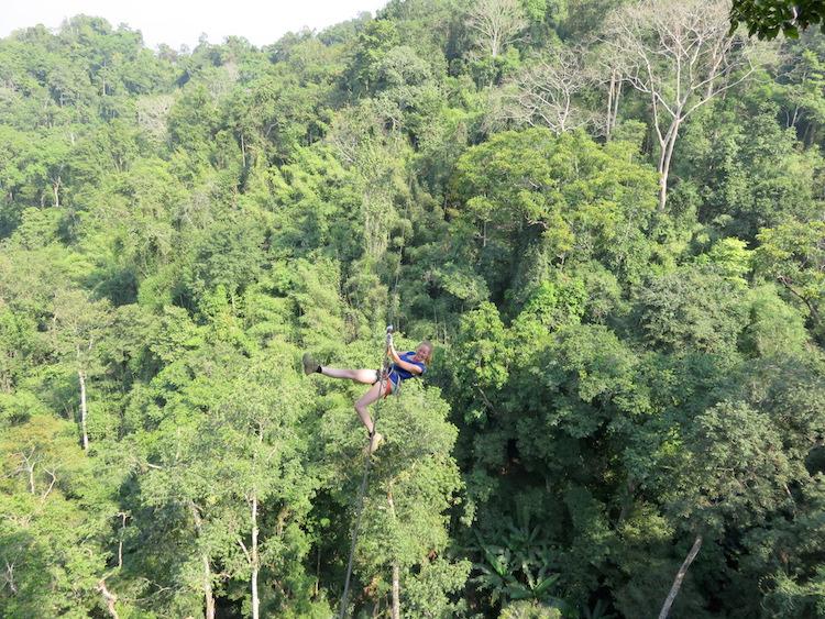 Ziplining laos Gibbon Experience Iris Timmermans