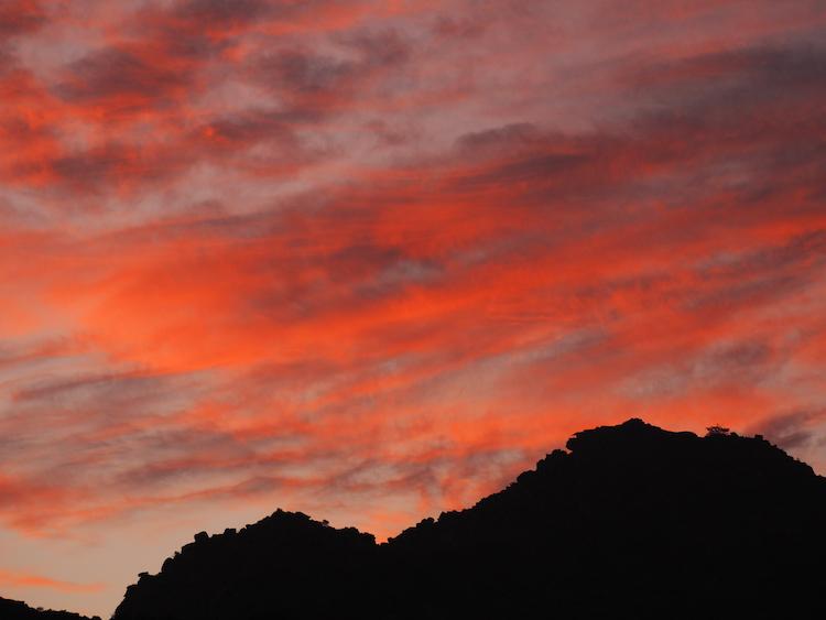 zonsondergang cederberg zuid afrika