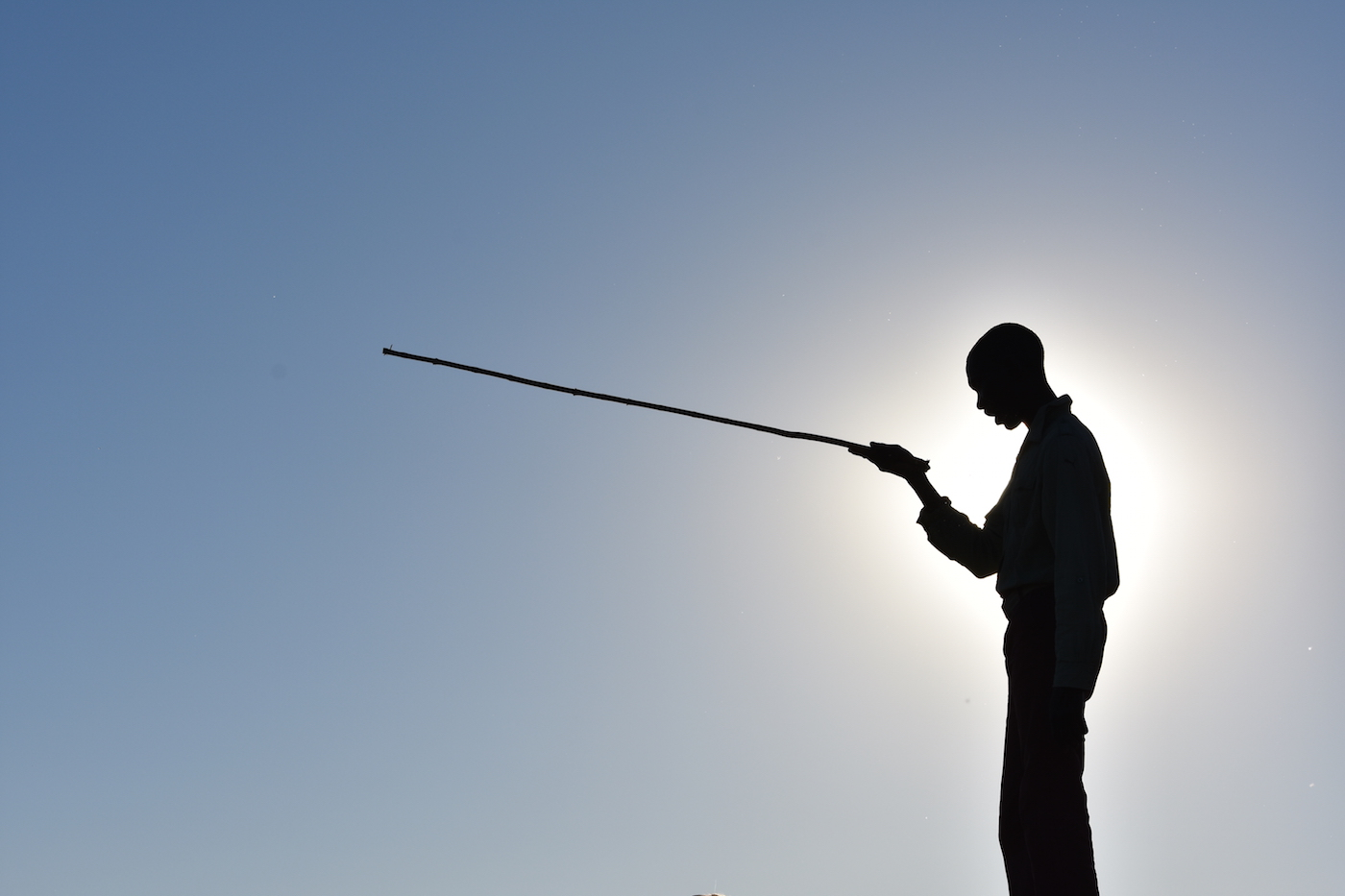 Zonsondergang in Botswana