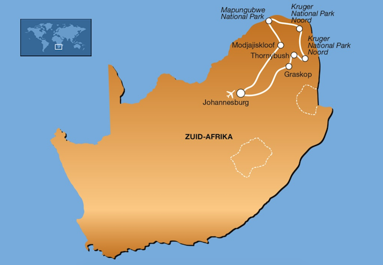 Zuid-Afrika Limpopo Kruger route