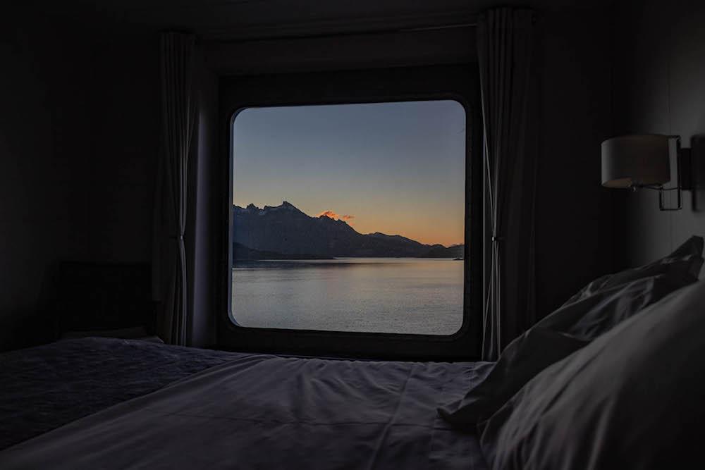 Zuid Patagonie vanuit je raam tijdens cruise