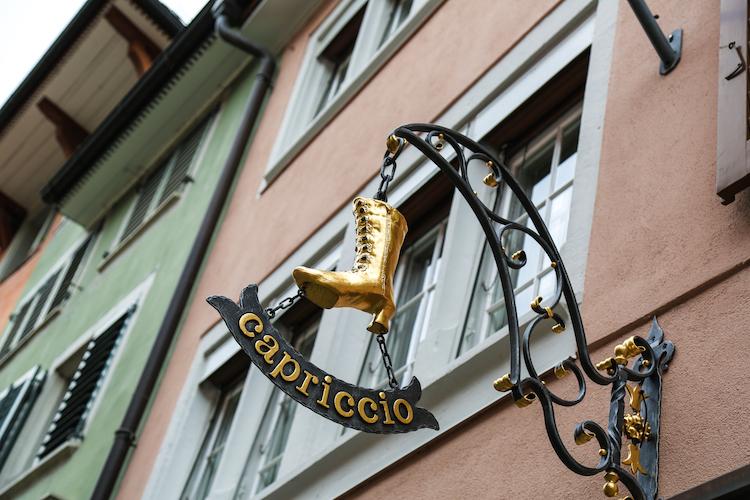 Zurich pastelhuisjes winkel capriccio