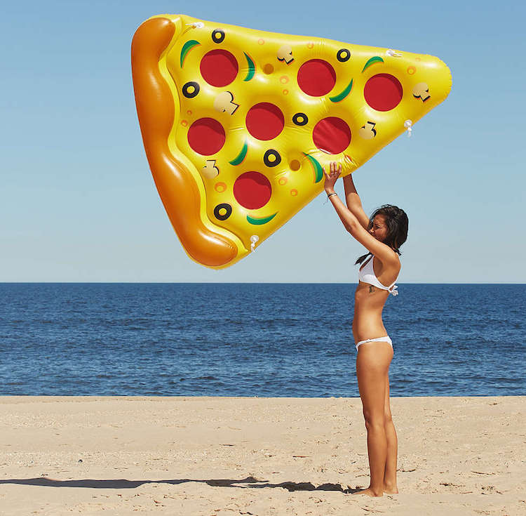 Zwembad speelgoed Opblaasbare pizza luchtbed