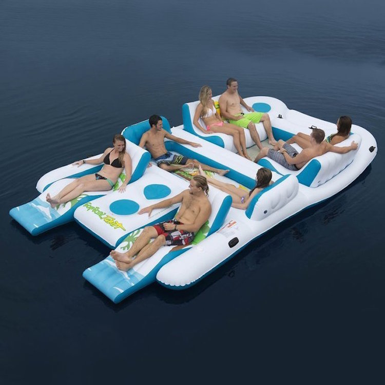 Zwembad speelgoed chill eiland