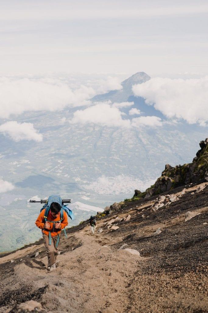 acatenango hike in guatemala