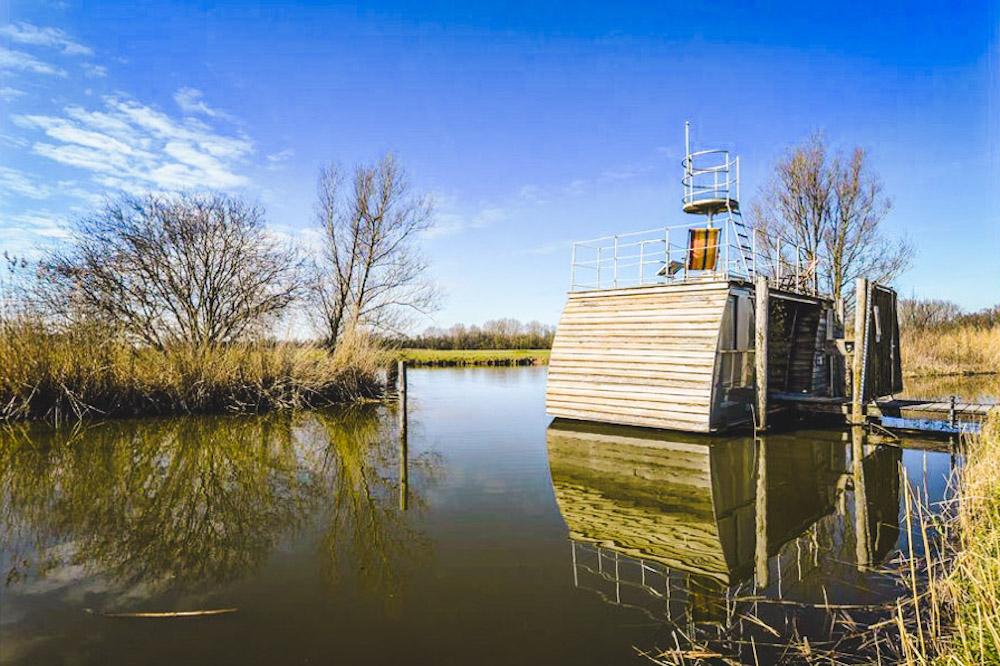 afgelegen huisje huren nederland Biesbosch
