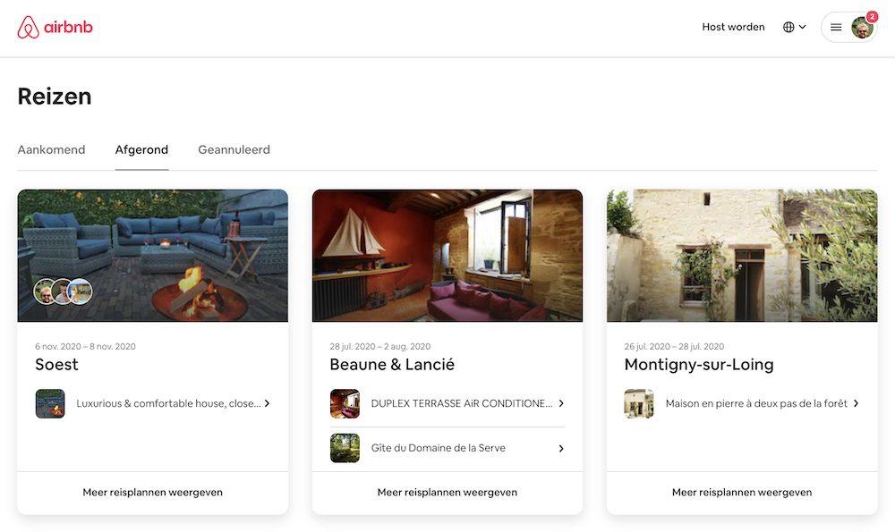 airbnb servicekosten terugvragen afgeronde reizen
