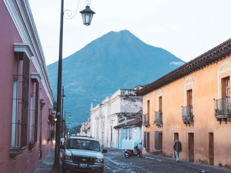 antigua guatemala bergen vulkanen