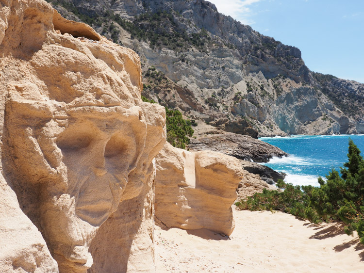 atlantis gezicht rotsen Ibiza geheim