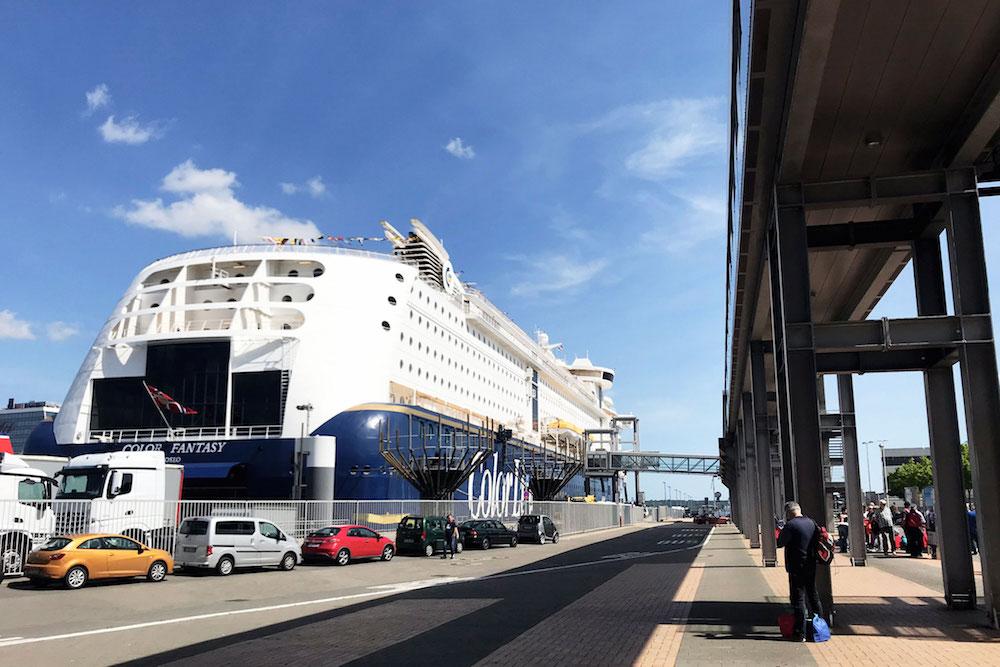 auto naar noorwegen ferry Terminal-in-Kiel