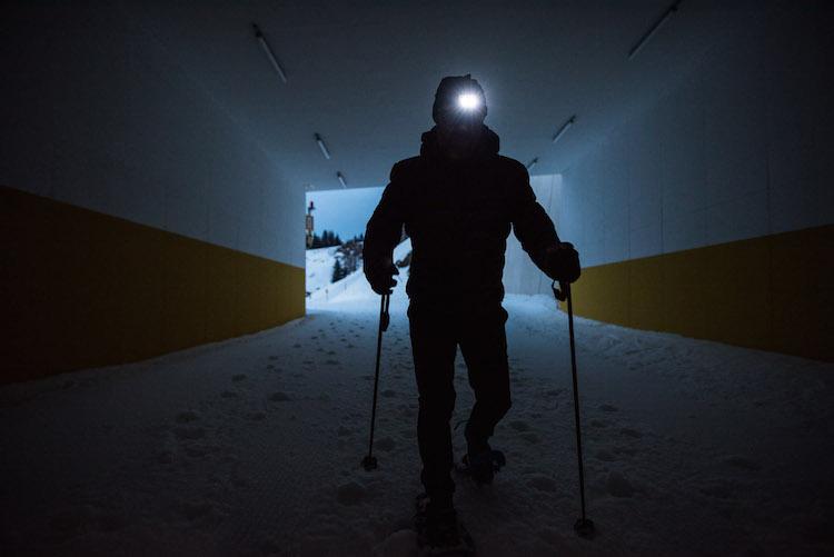avond snowshoeing kitzbuheler alpen