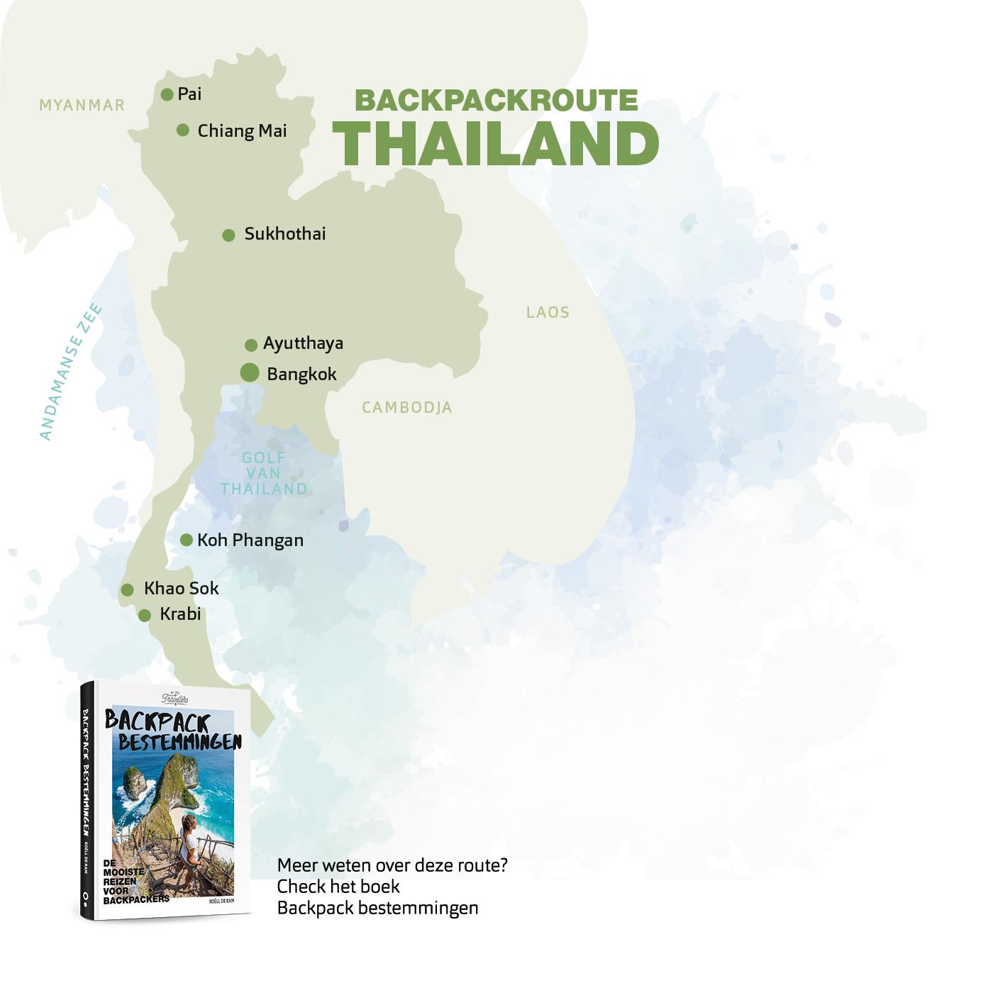 backpack route thailand boek backpack bestemmingen