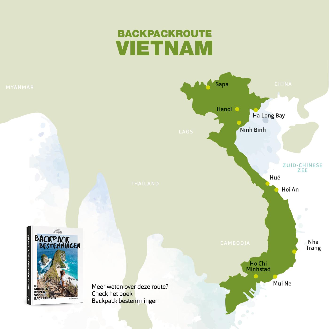 backpack route vietnam boek backpack bestemmingen