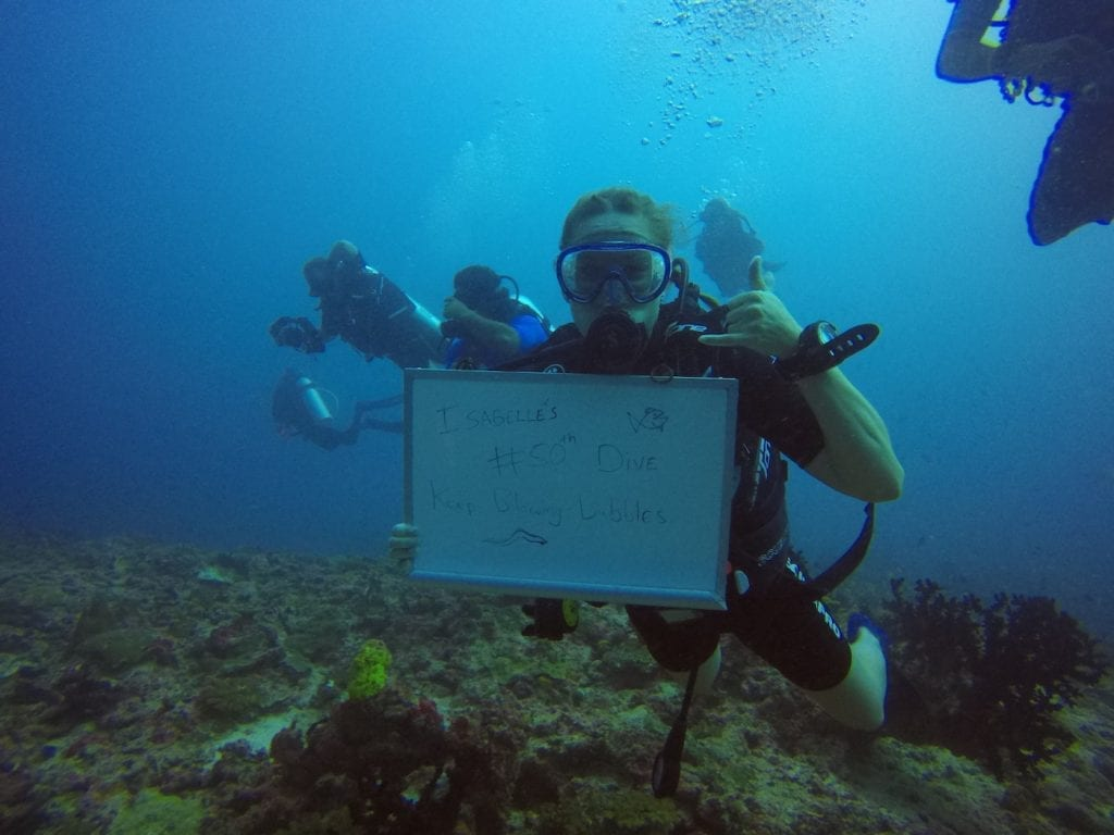 backpacken malediven rashdoo 50e duik