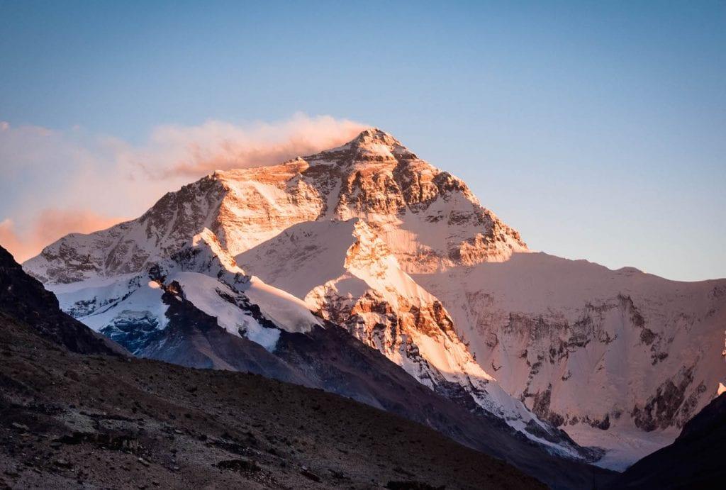 backpacken tibet bergen foto