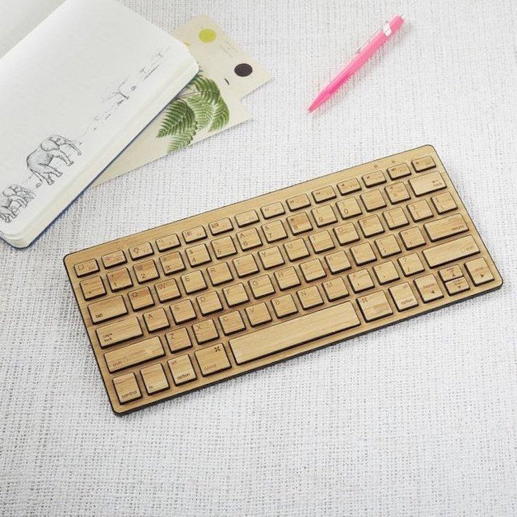 bamboe draadloos toetsenbord