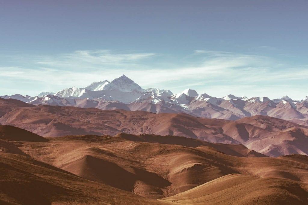 berglandschap tibet backpacken