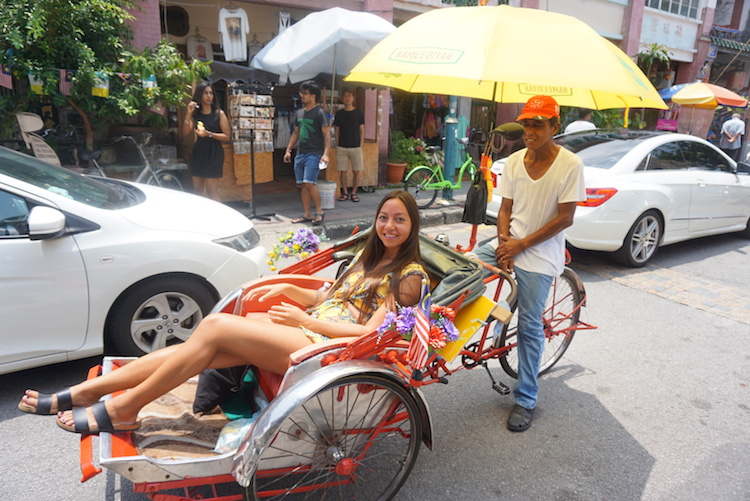 bezienswaardigheden penang maleisie riksja fietstour