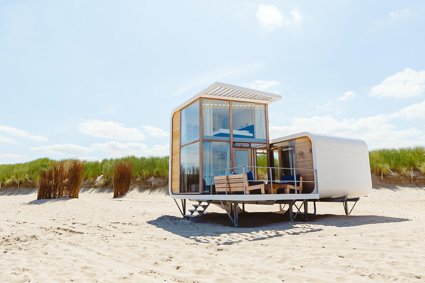 bijzonder overnachten nederland strandhuisje