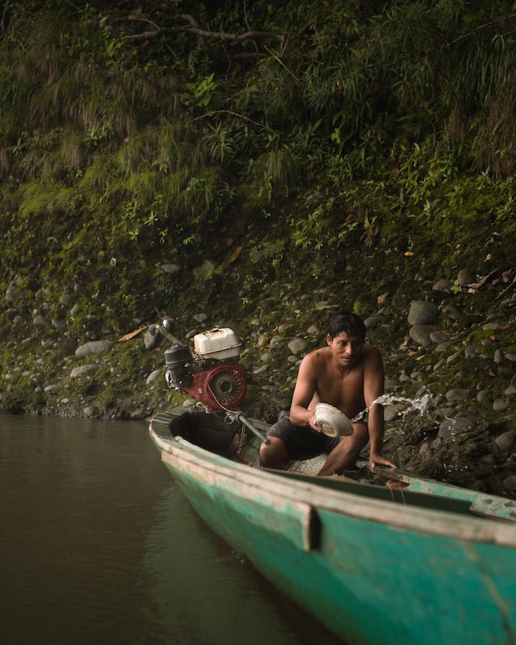 bootje vissen jungle peru Arturo