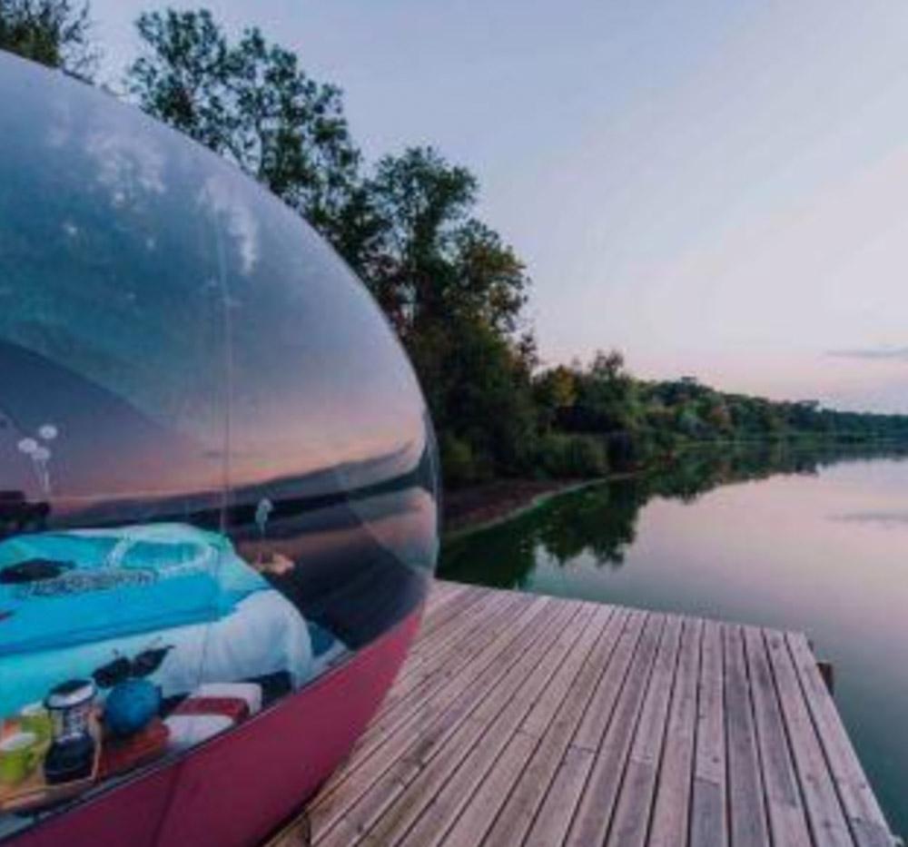 bubbel tent slapen