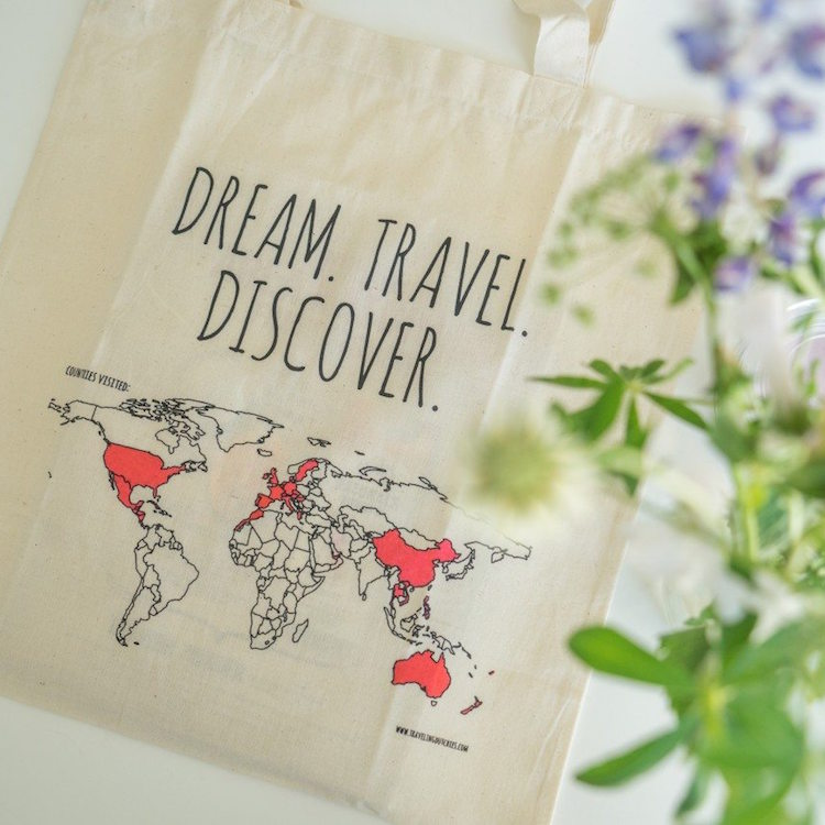 cadeau backpacker colour your world bag