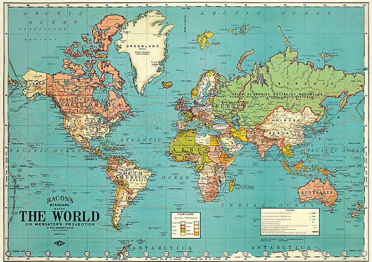 cadeau voor reiziger wereldkaart