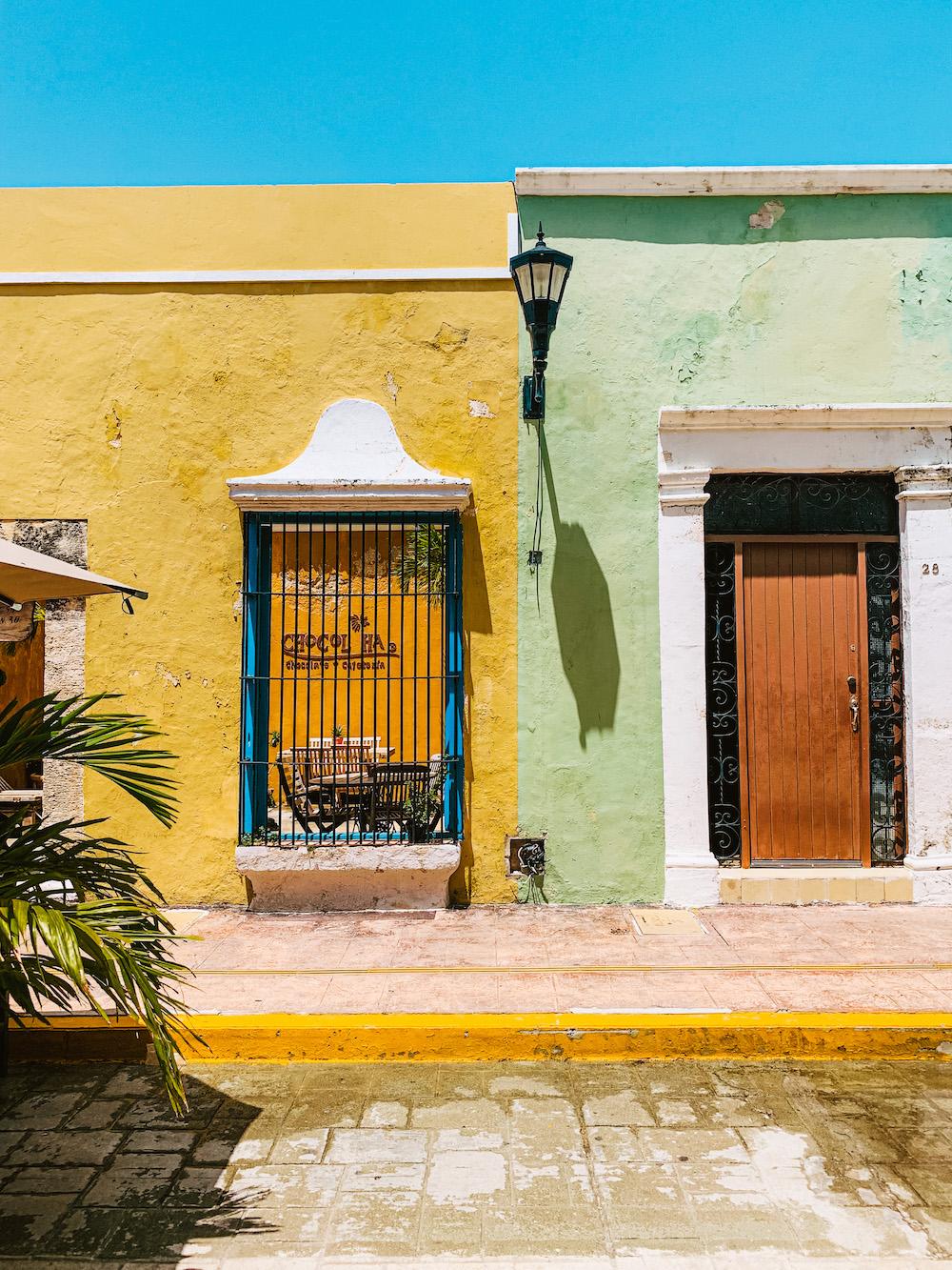 campeche mexico pastel kleurige huisjes